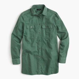 J.Crew Green Fatigue Button Down Shirt 2P